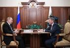 Президент России Владимир Путин и уполномоченный при президенте РФ по защите прав предпринимателей Борис Титов, 26 мая
