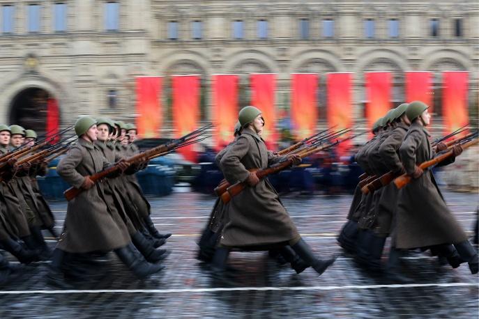 В российской столице проходит генеральная репетиция марша, посвященного военному параду 1941 года