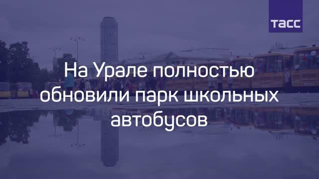 Свердловские школы получили 45 новых автобусов