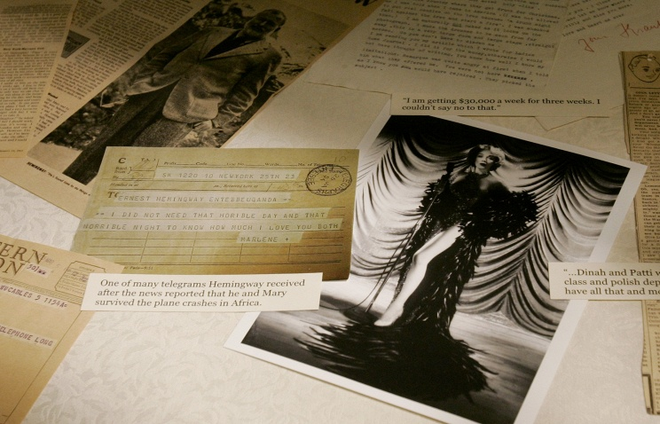 Нааукционе вНью-Йорке продадут любовное письмо Хемингуэя кМарлен Дитрих