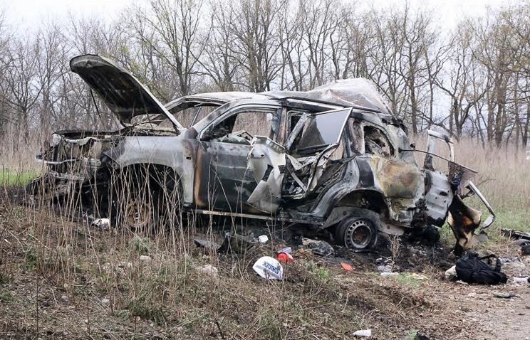 Уголовное дело возбуждено вгосударстве Украина после подрыва автомобиля ОБСЕ вЛНР
