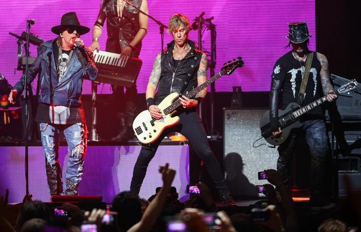 Guns N'Roses выступят в российской столице перед концом ЧМ