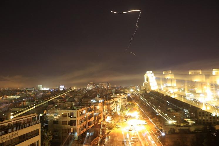 Обстрел Дамаска силами коалиции
